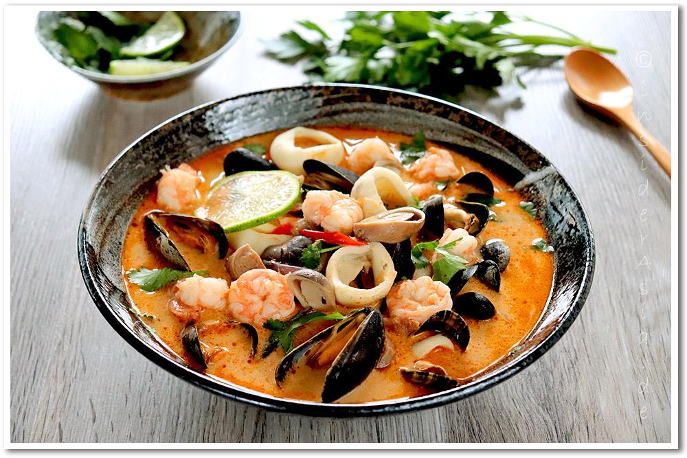 Thailändische Suppe Tom Yam Gung