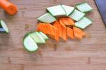 Gemüseschnitt Rauten