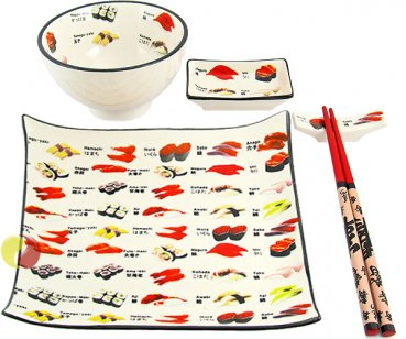 Geschirr Set (5-tlg., Sushi-Motiv), 1 Person