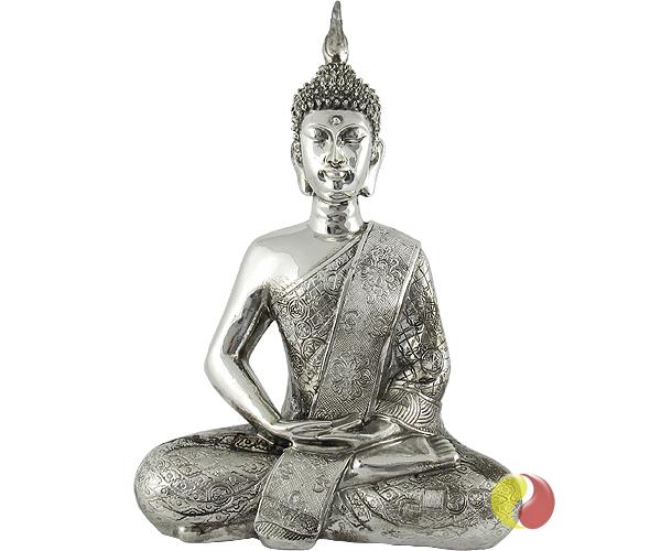 buddha figur silber gl nzend insider asia feinkost lifestyle. Black Bedroom Furniture Sets. Home Design Ideas